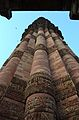 Carvings on the Qutab Minar. A view from bottom..JPG