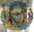Casteldurante, bottega di andrea da negroponte, diana e atteone, 1550-65 ca..JPG