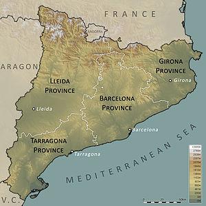 Outline of Catalonia - Provinces