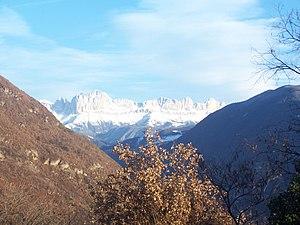 Catinaccio/Rosengarten from Guncina/Guntschna
