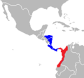 Cebus capucinus and imitator Range Map.png