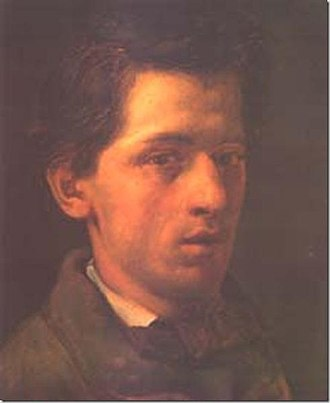 Cecrope Barilli - Self-portrait (c.1880)