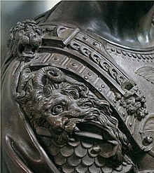 Detail on Cosimo I bust