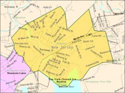 Bản đồ Cục điều tra dân số của Boonton, New Jersey