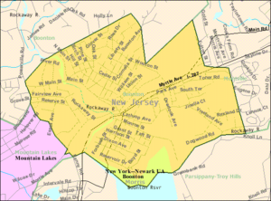 Boonton, New Jersey - Image: Census Bureau map of Boonton, New Jersey