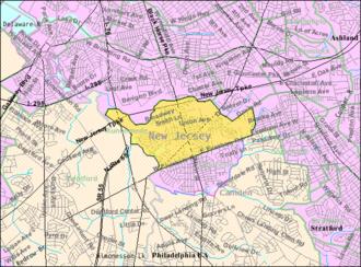 Runnemede, New Jersey - Image: Census Bureau map of Runnemede, New Jersey