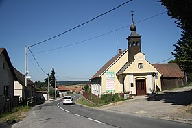 Center and chapel of Virgin Mary in Sklené nad Oslavou, Žďár nad Sázavou District.jpg