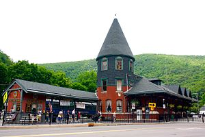 Jim Thorpe, Pennsylvania - Central Railroad of New Jersey Station, now a visitors center