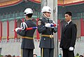 Ceremonial Lowering Of The Flag - National Taiwan Democracy Memorial Hall.JPG