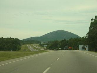 Cerro Pan de Azúcar - The hill viewed from a road