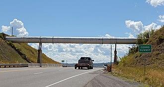 U.S. Route 50 in Colorado - US 50 at Cerro Summit