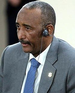 Chairman of the Sovereignty Council of Sudan Abdel Fattah Abdelrahman Burhan in October 2019 (cropped).jpg