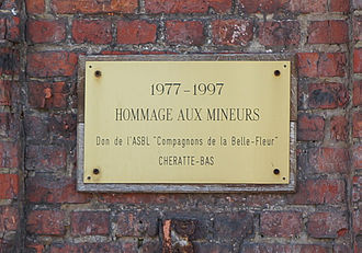 Coal mine of Hasard de Cheratte - Commemorative plate