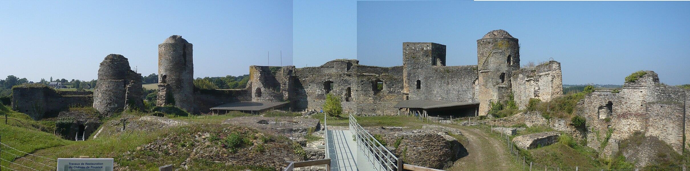 Pouancé castle