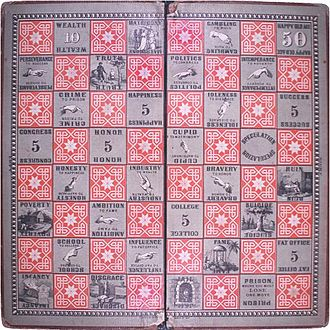 Milton Bradley - The original game board of The Checkered Game of Life.