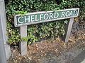 Chelford Road sign, Knutsford.JPG
