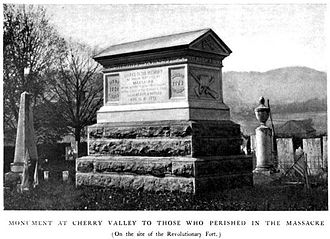 Cherry Valley massacre - Monument to the victims of the Cherry Valley massacre