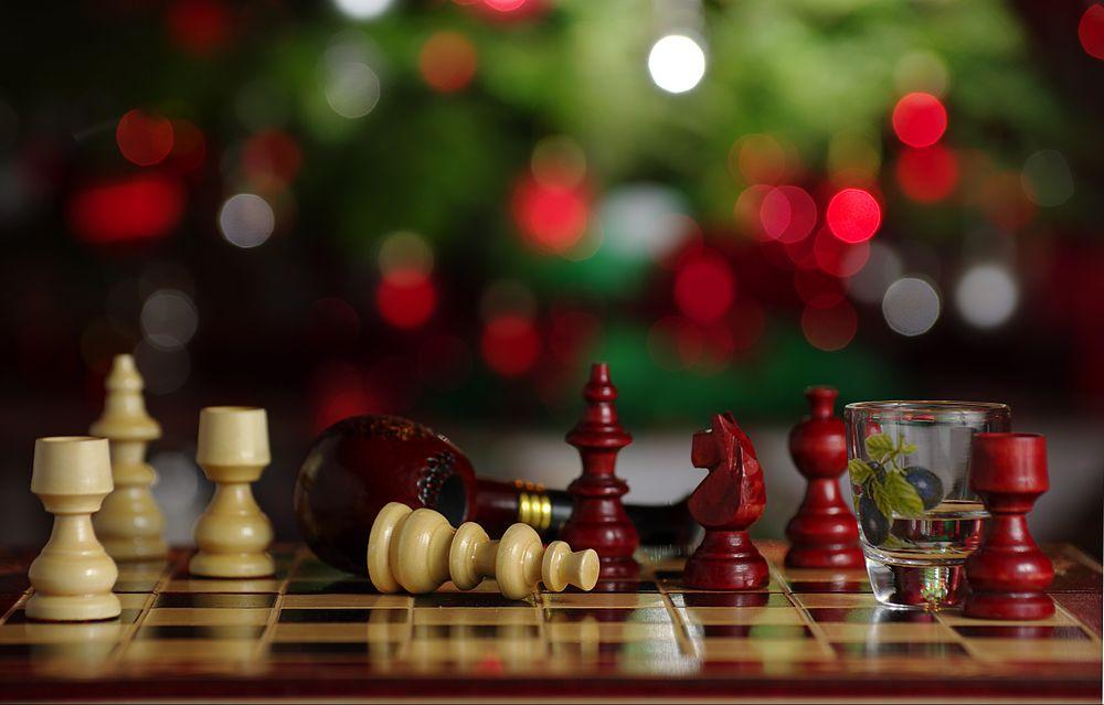 День победы, картинки дед мороз играет в шахматы