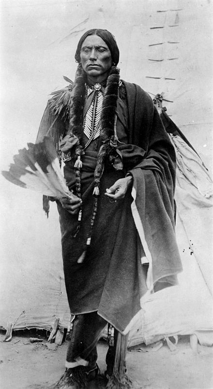 Chief Quanah Parker, son of Cynthia Parker and last chief of the Comanche