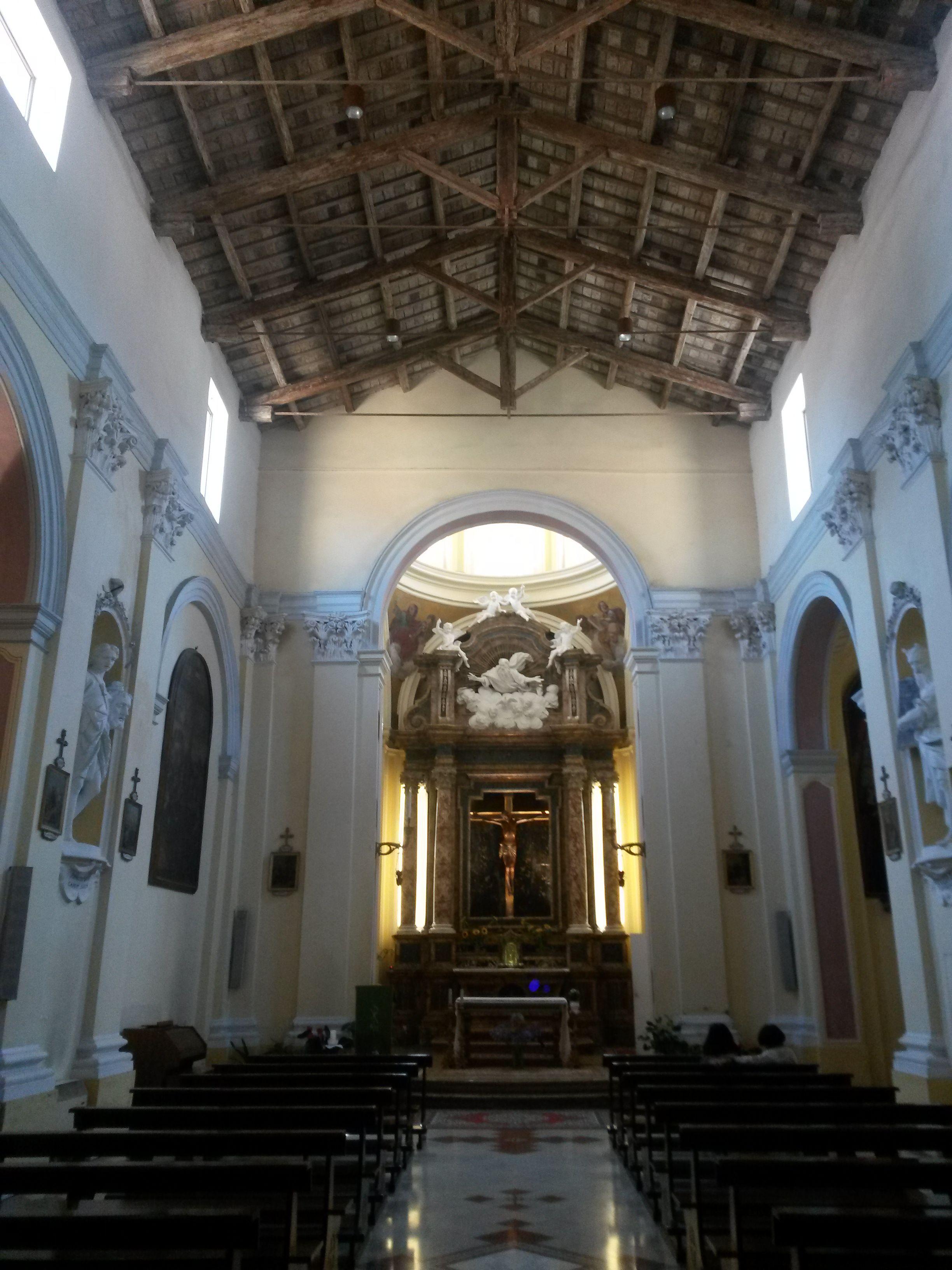 File Chiesa Di Santa Croce Nuova Rimini Interno Jpg