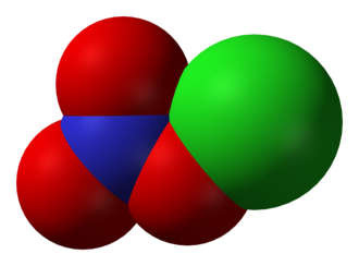 Chlorine nitrate - Image: Chlorine nitrate 3D vd W