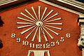 Chocianów - Zegar słoneczny na kościele św. Józefa Robotnika (d. Najświętszego Serca PJ) (zetem).jpg