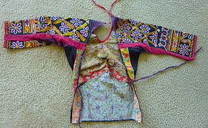 Choli - Traditional choli tied at the back from Braj region of Uttar Pradesh.
