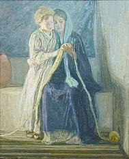 Le Christ et sa Mère étudiant les écritures