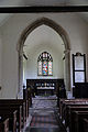 Church of St Andrew, Willingale, Essex, England - interior chancel from nave.JPG