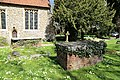 Church of St Martin White Roding Essex England - brick table tombs.jpg