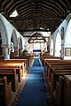 Church of St Mary the Virgin, Woodnesborough, Kent - nave looking east 02.jpg