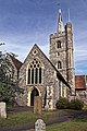 Church of St Nicholas, Ash-with-Westmarsh, Kent - west nave and tower.jpg