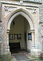Church porch at St Nicholas, Chawton - geograph.org.uk - 936489.jpg