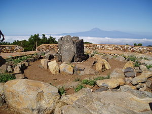 Canary Islands in pre-colonial times - A Guanche sanctuary in the Garajonay National Park - La Gomera Island