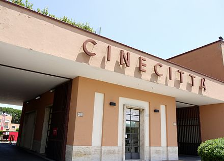 Entrance to Cinecitta in Rome, the largest film studio in Europe Cinecitta - Entrance.jpg