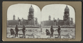 City Hall from McAllister St., looking northeast. Souvenir hunters in foreground, from Robert N. Dennis collection of stereoscopic views.png