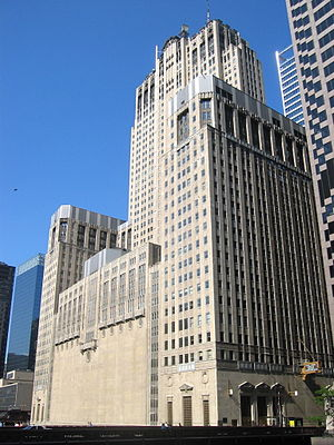 Civic Opera House (Chicago) - Rear façade of the Civic Opera House