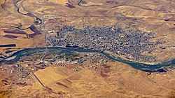 Aerial view of Cizre, Turkey.