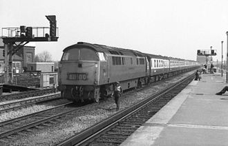 Cornish Riviera Express - 1071 Western Renown at Reading with a westbound Cornish Riviera in April 1976