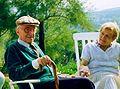 Claude Cahen et son épouse en 1989.jpg