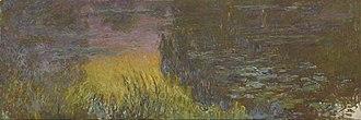 Water Lilies (Monet series) - Claude Monet, The Water Lilies - Setting Sun, 1920–1926, Musée de l'Orangerie