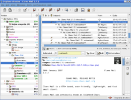 Finestra principale di Claws Mail 2.7.1
