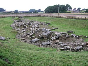 Piercebridge Roman Bridge - Image: Cliffe Roman Bridge 2