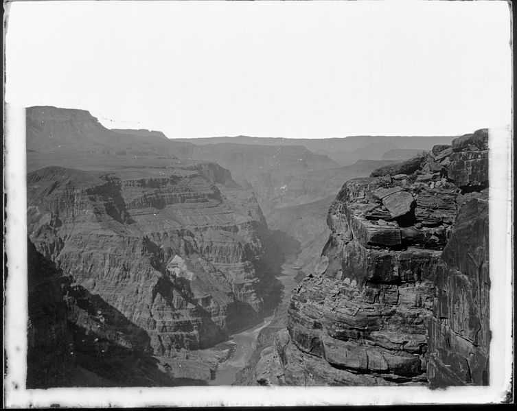 File:Coconino and Mohave Counties, Arizona. View of the Grand Canyon from the north rim, looking downstream. Mouth of... - NARA - 517736.jpg