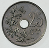 Coin BE 25c Leopold II rev FR 34