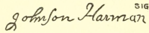 Johnson Harmon - Col Johnson Harmon, signature