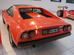 Ferrari 308 GTB/GTS - Tail of an early single-exhaust GTS