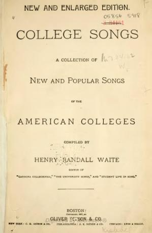 College Songs (Waite, 1887).djvu