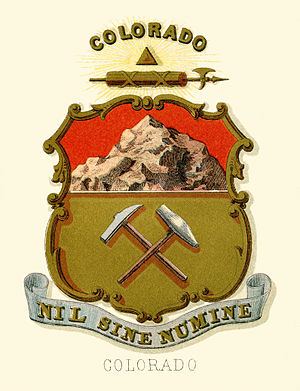 Seal of Colorado - Historical coat of arms (illustrated, 1876)