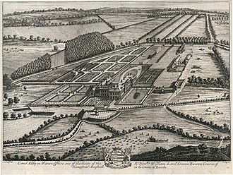 Coombe Abbey - Coombe Abbey in the early 18th century from Kip and Knyff's Britannia Illustrata.